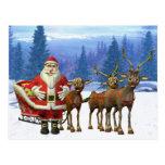 happy santa post card