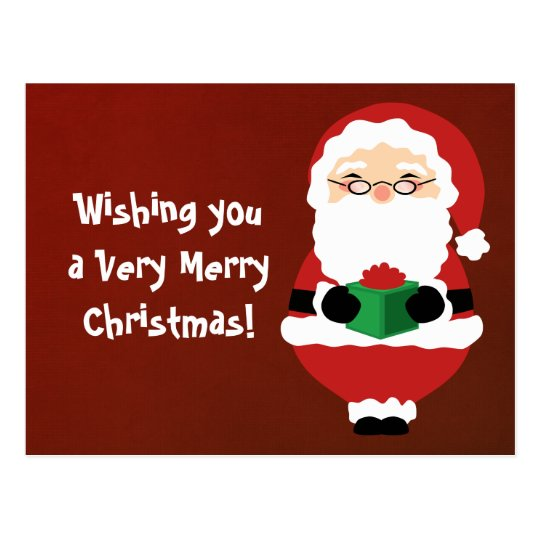 Happy Santa Postcard