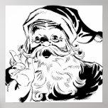 Happy Santa Print
