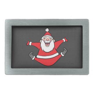 Happy Santa Rectangular Belt Buckles