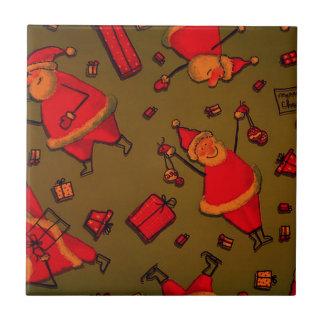Happy Santa,red Ceramic Tile