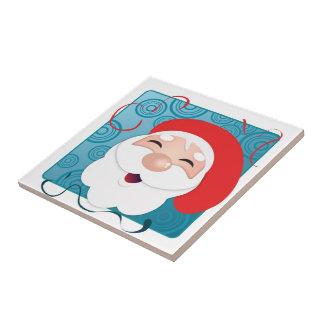 happy santa tile