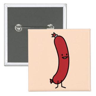 Happy Sausage Pinback Button