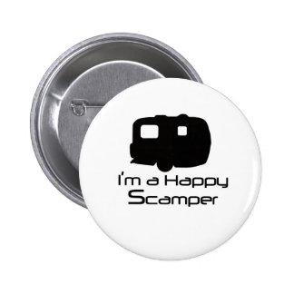 Happy Scamper Fun Stuff Pinback Buttons