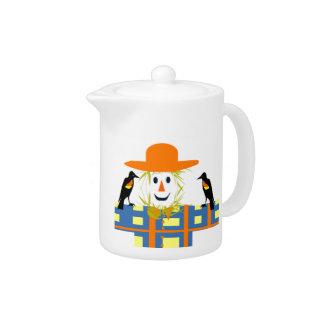Happy Scarecrow Teapot