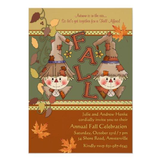 Happy Scarecrows Invitation