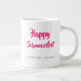 'Happy Schmoozefest' jumbo mug - Lilah Love
