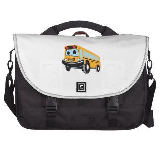 HAPPY SCHOOL BUS LAPTOP COMMUTER BAG