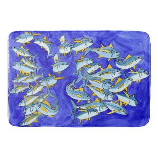 Happy School of Yellowfin Tuna Bathroom Mat