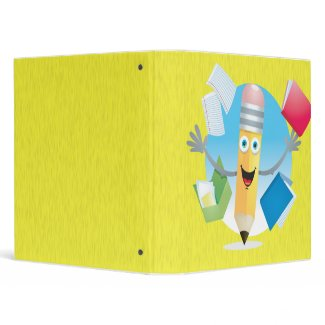 Happy School Pencil Notebook binder