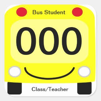 Happy Schoolbus Student Bus Tag Stickers