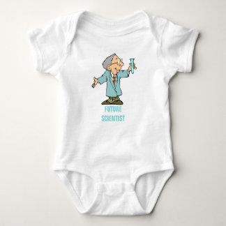 Happy Scientist Chemist Cartoon Baby Bodysuit
