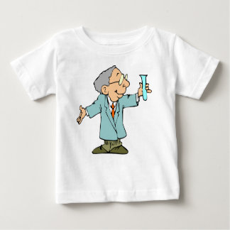 Happy Scientist Chemist Cartoon Baby T-Shirt