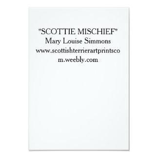 HAPPY SCOTTIE BIRTHDAY 3.5X5 PAPER INVITATION CARD