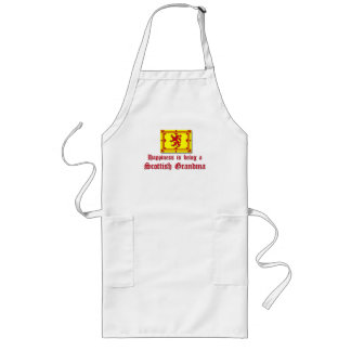 Happy Scottish Grandma Long Apron