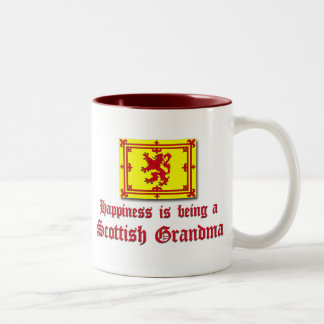 Happy Scottish Grandma Two-Tone Coffee Mug