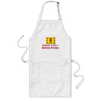 Happy Scottish Grandpa Long Apron