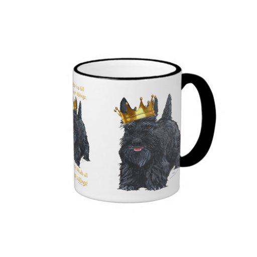 Happy Scottish Terrier King Coffee Mug
