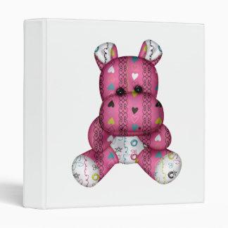 happy scribble hearts hippo binder