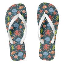 Happy Sea Animal Flip Flops