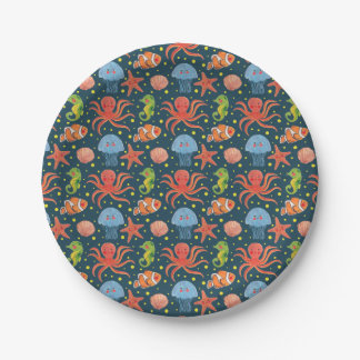 Happy Sea Animal Paper Plate