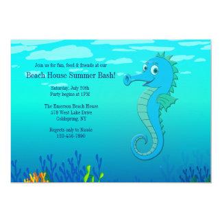 Happy Seahorse Invitation