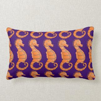 Happy seahorse throw pillow