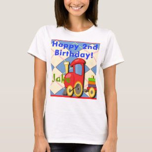 Happy Second Birthday Train T Shirt