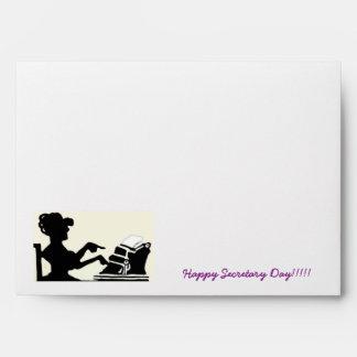 Happy Secretary Day Envelopes