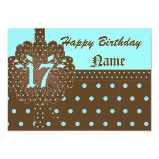 Happy Seventeen Birthday Gift Invitation!-Cust. Card