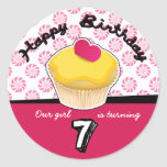 Happy Seventh (7th) Birthday Cupcake Stickers!