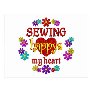 Happy Sewing Post Card