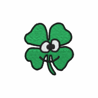 Happy Shamrock Embroidered Women's T