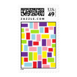Happy Shapes Postage Stamp