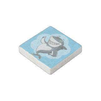 Happy shark stone magnet