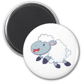 Happy Sheep 2 Inch Round Magnet