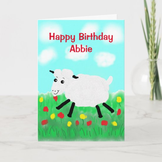 Happy Sheep Birthday Card