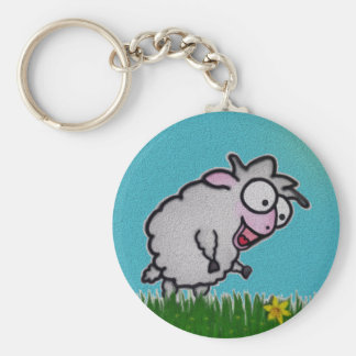 Happy Sheep Keychain