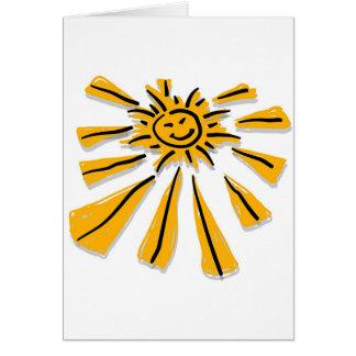 Happy Shiny Sun Greeting Card