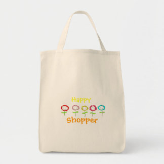 Happy Shopper Grocery Tote Bag