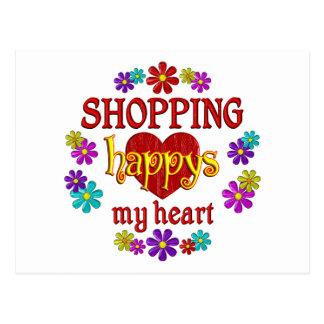 Happy Shopping Postcard