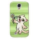 Happy Siamese cat holding Daisy Galaxy S4 Cover