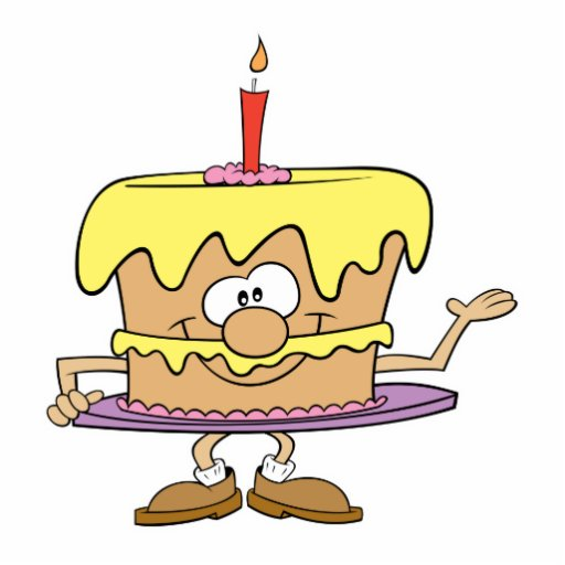 happy silly birthday cake cartoon photo cutouts