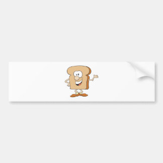 happy silly bread toast cartoon bumper stickers