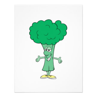 happy silly broccoli cartoon custom invites
