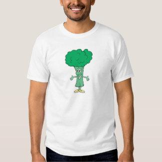 happy silly broccoli cartoon tee shirt