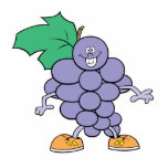 happy silly grapes cartoon acrylic cut outs
