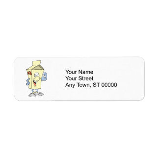 happy silly milk cartoon cartoon custom return address label
