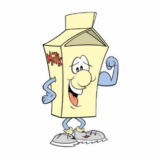 happy silly milk cartoon cartoon standing photo sculpture