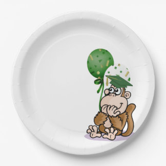Happy Silly Monkey Graduate Paper Plate